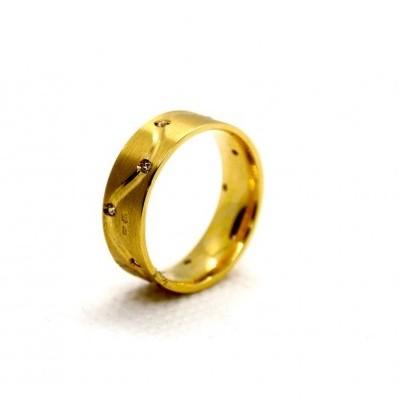 Aliança de Casamento com Pedras