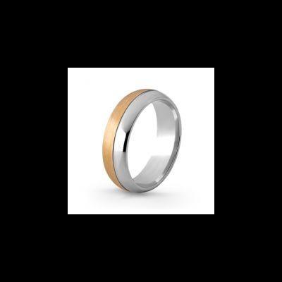 Aliança de Casamento Bi-Color