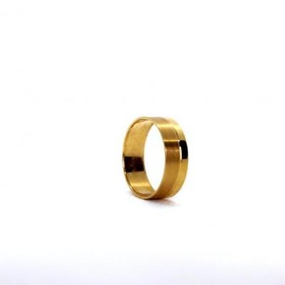 Aliança de Casamento Bicolor